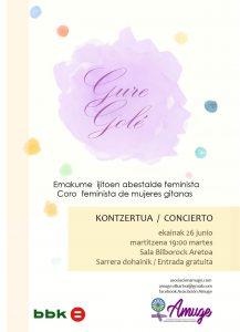 Gure golé ekainak 26 junio concierto kontzertua