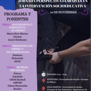 Jornada «Perspectiva feminista en la intervención socioeducativa»