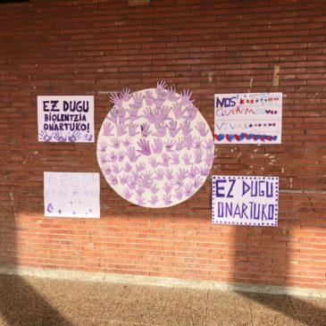 Emakumeenganako indarkeria lantzen eskoletan / Actividades en centros escolares en el Día contra las violencias hacia las mujeres